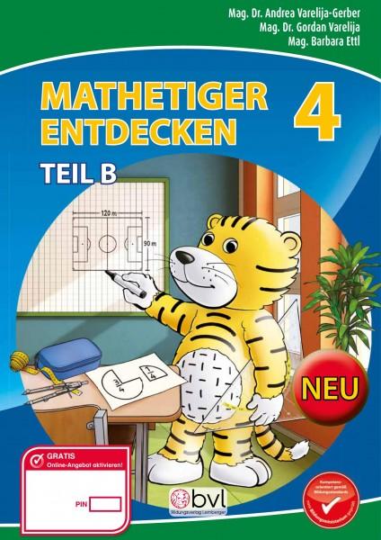 Mathetiger 4 NEU - Schulbuch Teil B (für das 2. Semester)