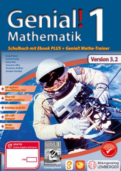 Genial! Mathematik 1 - Schulbuch IKT NEU: Mit Digitaler Grundbildung, Hörbuch, HÜ-/SÜ-Manager, ...