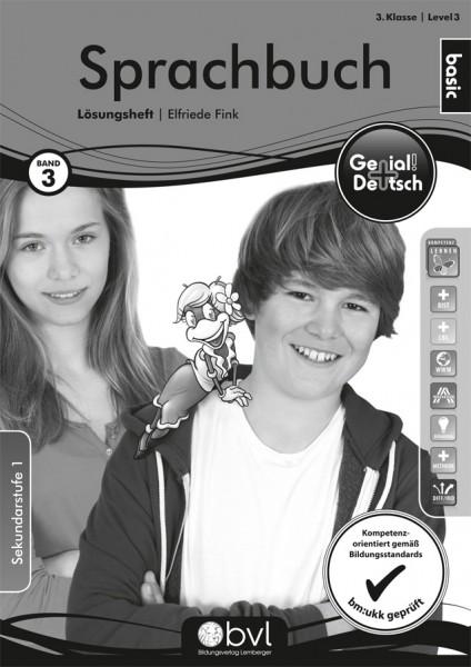Genial! Deutsch 3 - Sprachbuch: Übungsteil Basic Edition - Lösungsheft