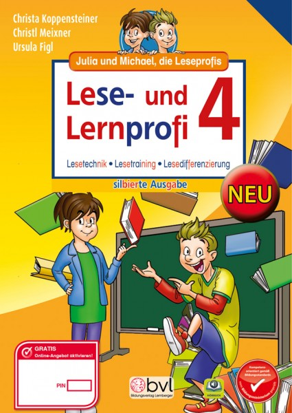 Lese- und Lernprofi 4 - Schulbuch NEU: Silbierte Ausgabe