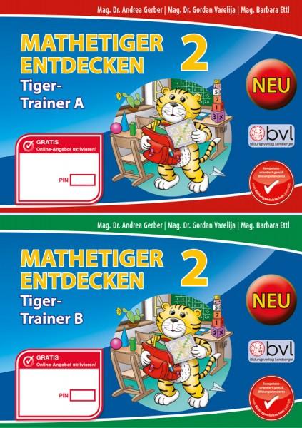 Mathetiger 2 - Schulbuch Tigertrainer (2-teilig)