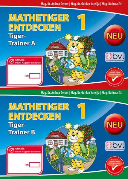 Mathetiger 1 - Schulbuch Tigertrainer (2-teilig)