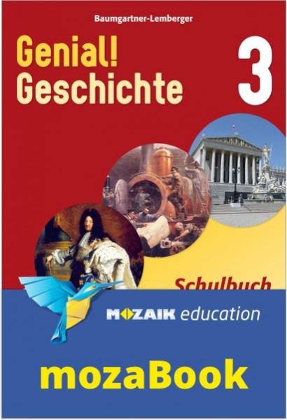 mozaBook - Genial! Geschichte 3 - Schulbuch (mit Lösungen)