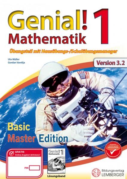 Genial! Mathematik 1 - Übungsteil IKT NEU: Basic + Master Edition mit HÜ-/SÜ-Manager, Hörbuch, Quick