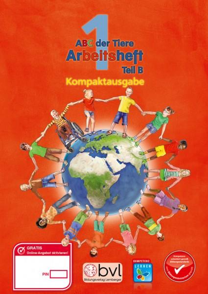 ABC der Tiere 1 - Schulbuch Kompaktausgabe: Lesen in Silben - Arbeitsheft - Teil B