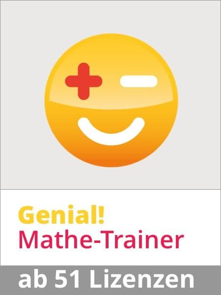 Genial! Mathe-Trainer Jahresabo ab 51 SchülerInnen