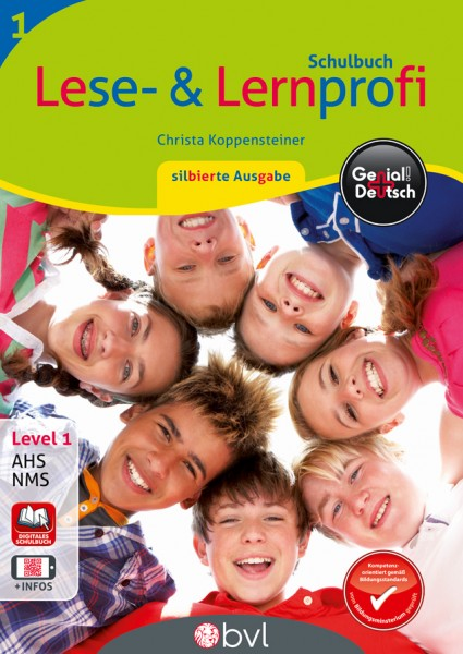 Genial! Deutsch 1 - Lese- und Lernprofi NEU: Schulbuch silbierte Ausgabe (mit Lösungsheft)
