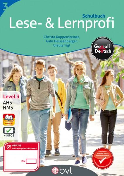 Genial! Deutsch 3 - Lese- und Lernprofi: Schulbuch (mit Lösungsheft)