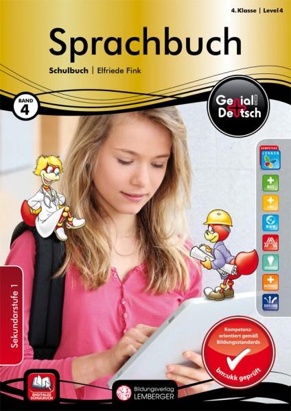 Genial! Deutsch 4 - Sprachbuch: Schulbuch (mit Lösungsheft)