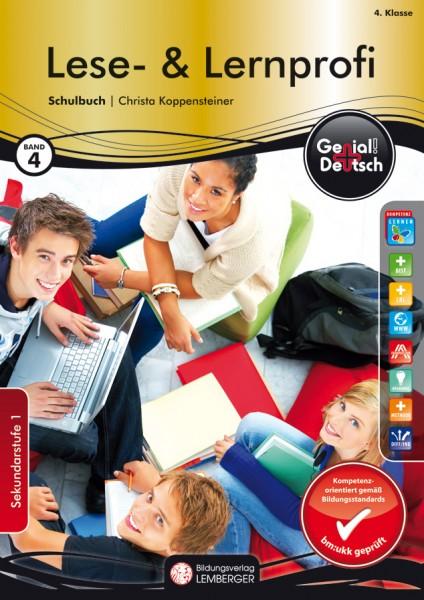 Genial! Deutsch 4 - Lese- und Lernprofi: Schulbuch (mit Lösungsheft)