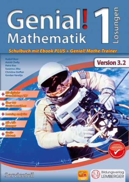 Genial! Mathematik 1 - Schulbuch IKT NEU: Serviceteil mit Lösungen