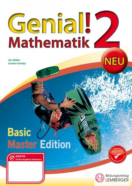 Genial! Mathematik 2 - Übungsbuch Basic + Master Edition NEU
