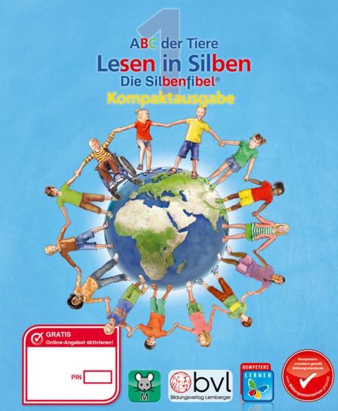 ABC der Tiere 1 - Schulbuch Kompaktausgabe: Lesen in Silben - Silbenfibel