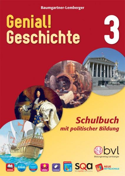 Genial! Geschichte 3 - Schulbuch (mit Lösungen)