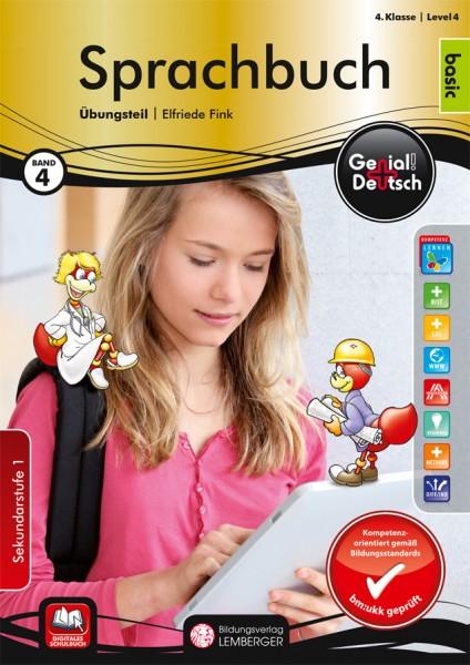 Genial! Deutsch 4 - Sprachbuch: Übungsteil Basic Edition (mit Lösungsheft)