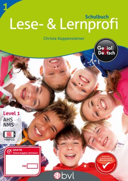 Genial! Deutsch 1 - Lese- und Lernprofi NEU: Schulbuch (mit Lösungsheft)